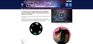 In Search of our Cosmic Origins - The ALMA Planetarium Show mini site