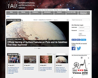 International Astronomical Union web site